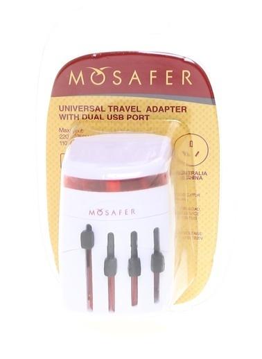 Mosafer Mosafer Seyahat Adaptörü- Beyaz Beyaz